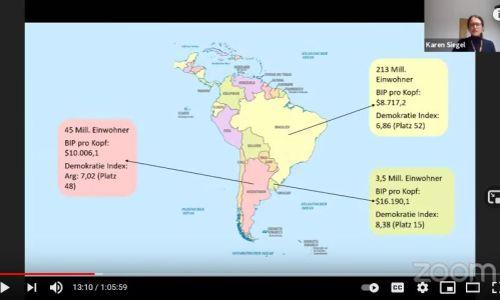 Science Slam-Talks presentation on paper industry in South America, Haus der Wissenschaft Braunschweig